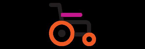 decorative element - wheelchair graphic