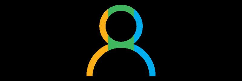 decorative element - tri-colored human graphic