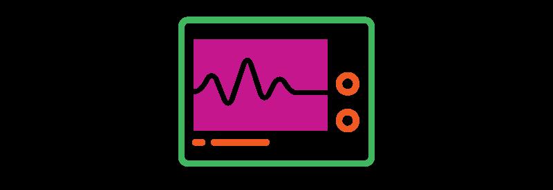 Decorative - heart monitor graphic